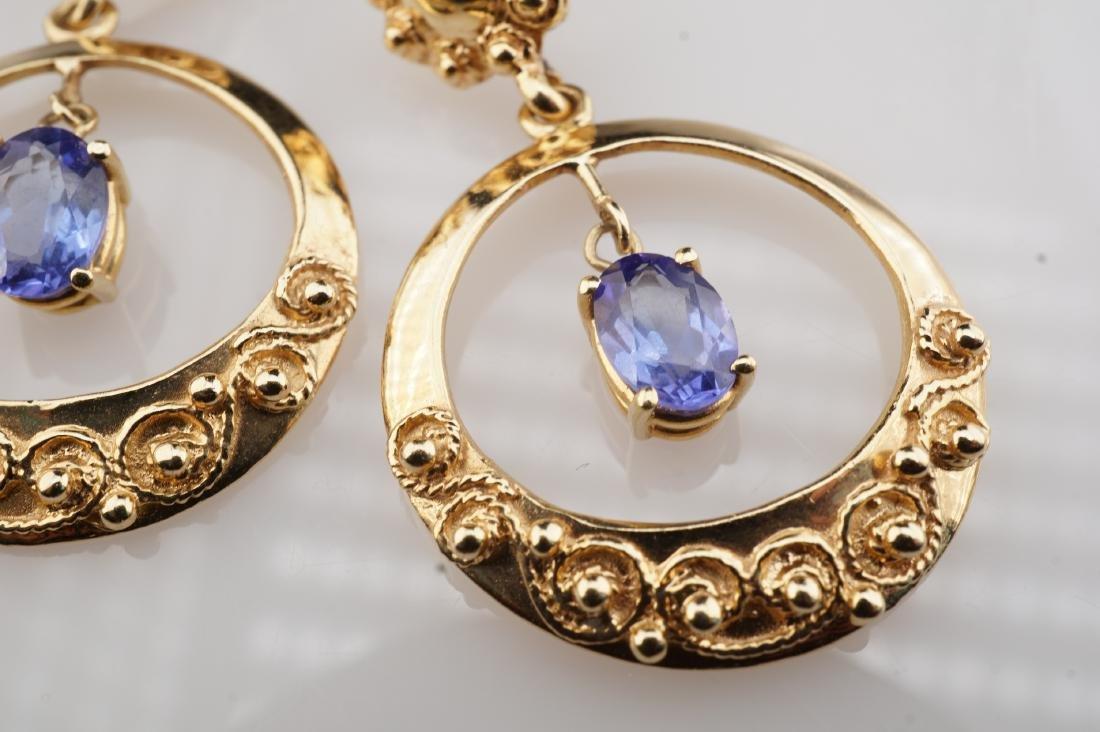 14k YG Le Vian Tanzanite Filigree Earrings - 3
