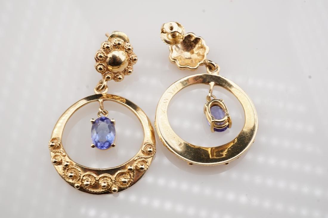 14k YG Le Vian Tanzanite Filigree Earrings - 4