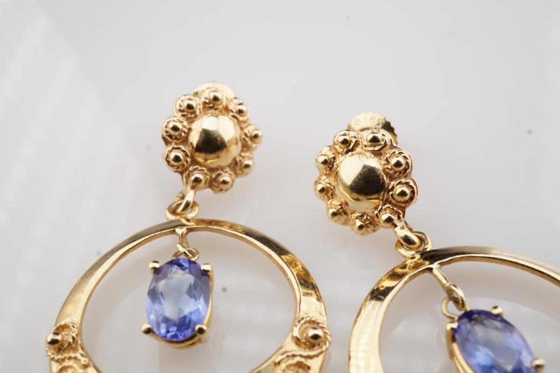 14k YG Le Vian Tanzanite Filigree Earrings - 5