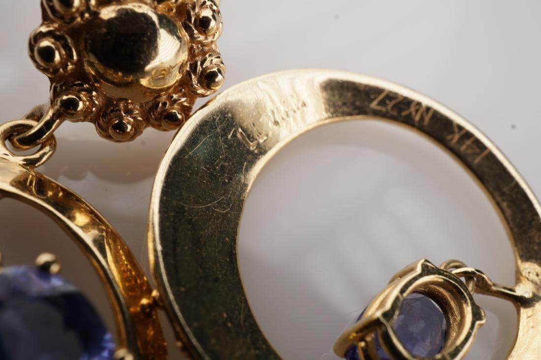 14k YG Le Vian Tanzanite Filigree Earrings - 6