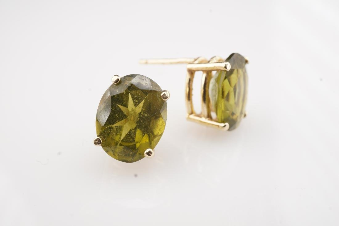 14k YG Peridot  Stud Earrings - 2