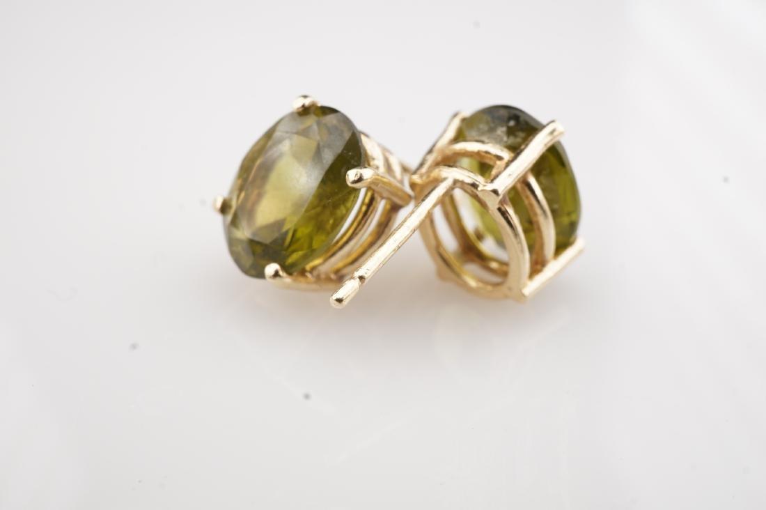 14k YG Peridot  Stud Earrings - 3
