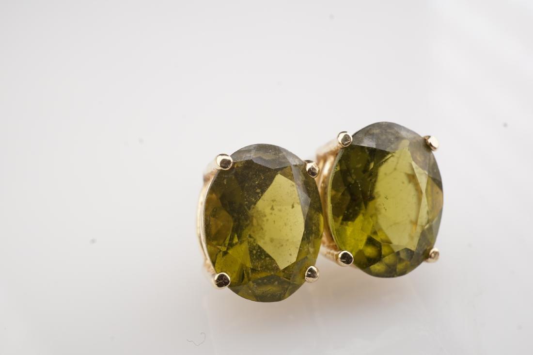 14k YG Peridot  Stud Earrings - 4
