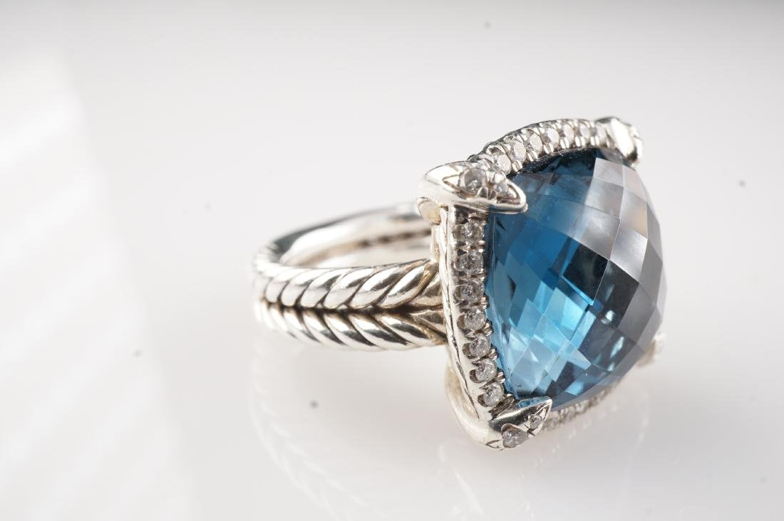 David Yurman Topaz and Diamond Ring sz 5.25 - 2