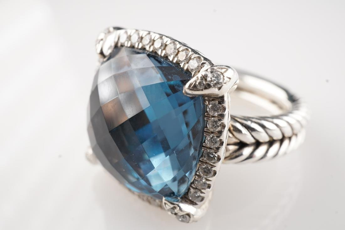 David Yurman Topaz and Diamond Ring sz 5.25 - 4