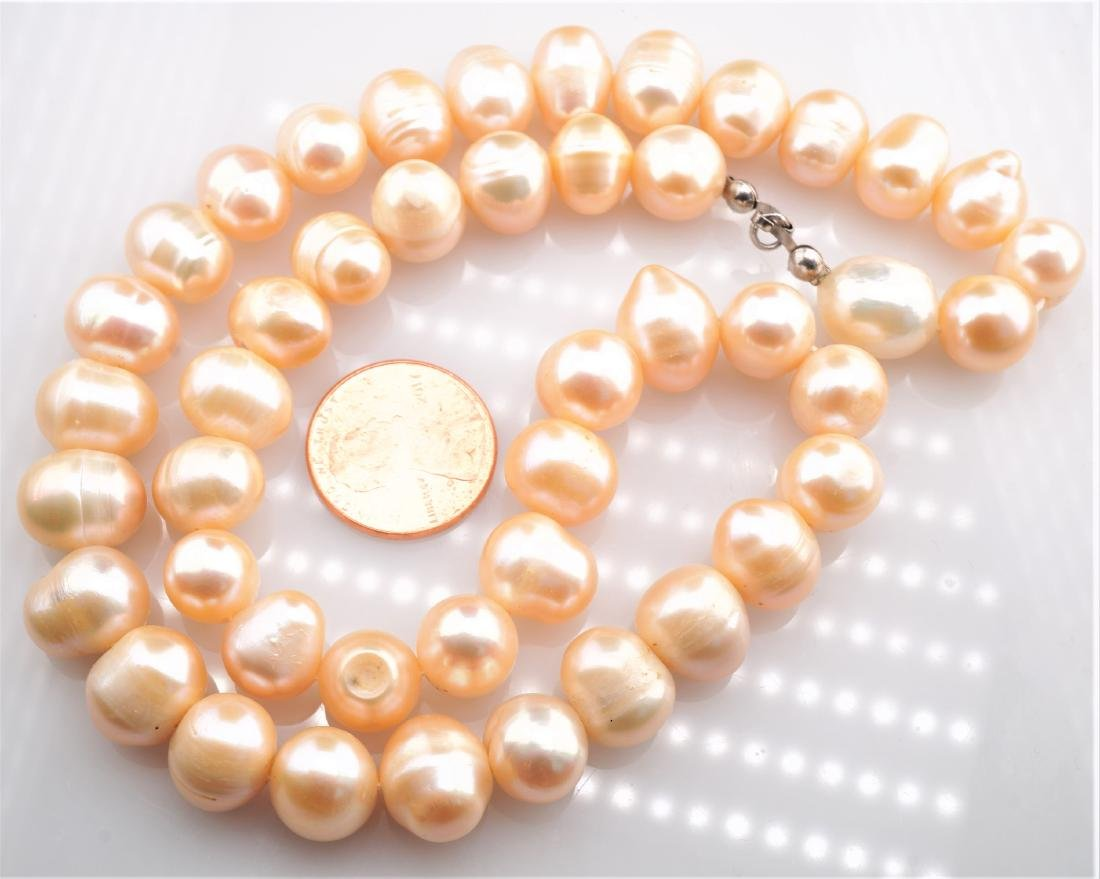"""17"""" Long Massive Pink Pearl Necklace"""