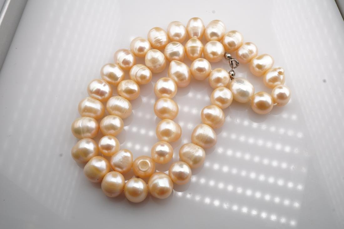 """17"""" Long Massive Pink Pearl Necklace - 2"""
