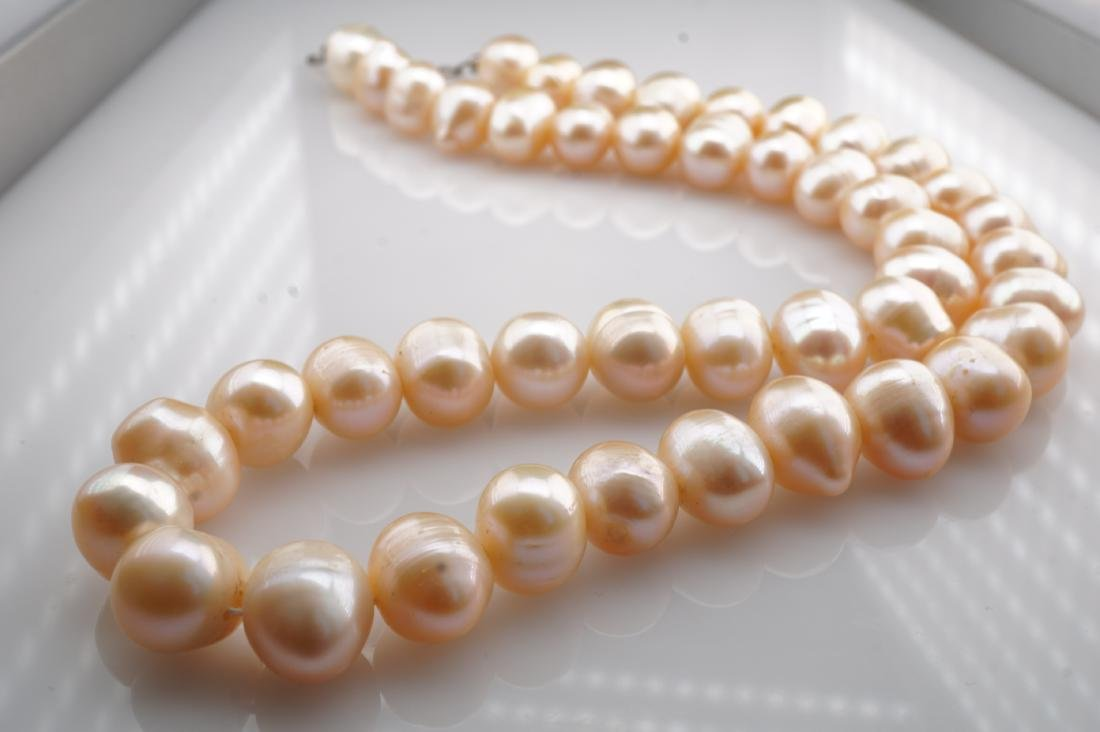 """17"""" Long Massive Pink Pearl Necklace - 3"""
