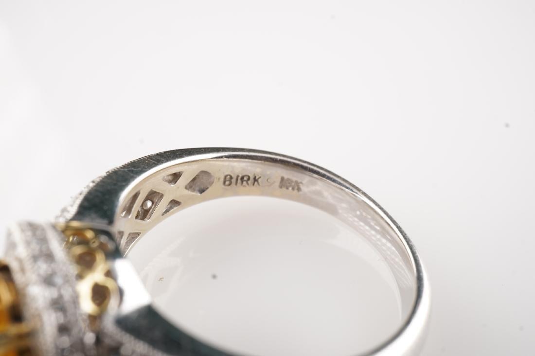 18k WG/YG Yellow Sapphire & Diamond Ring sz 6 - 5