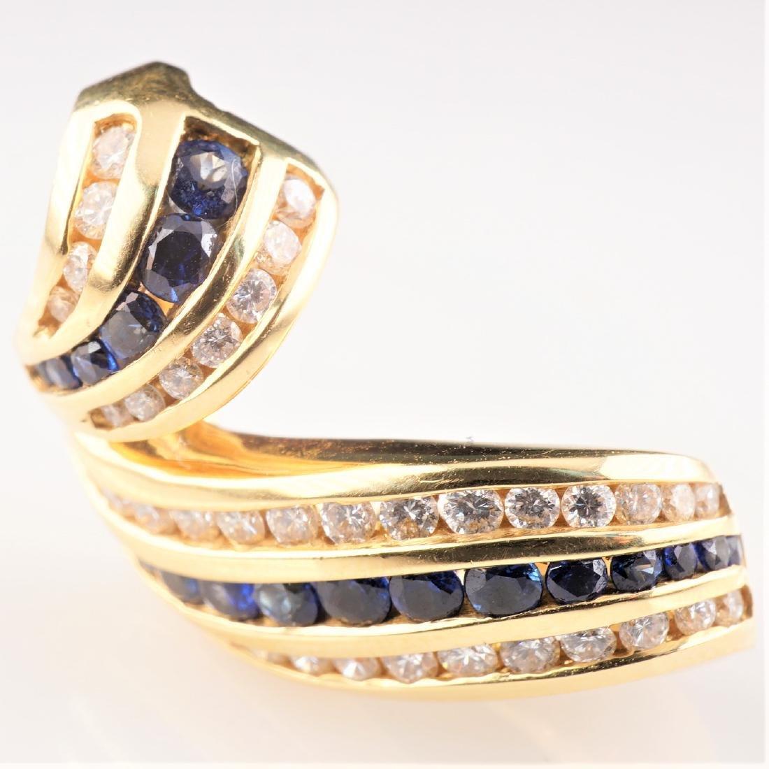 18k YG Charles Krypell Sapphire & Diamond Slide Pendant