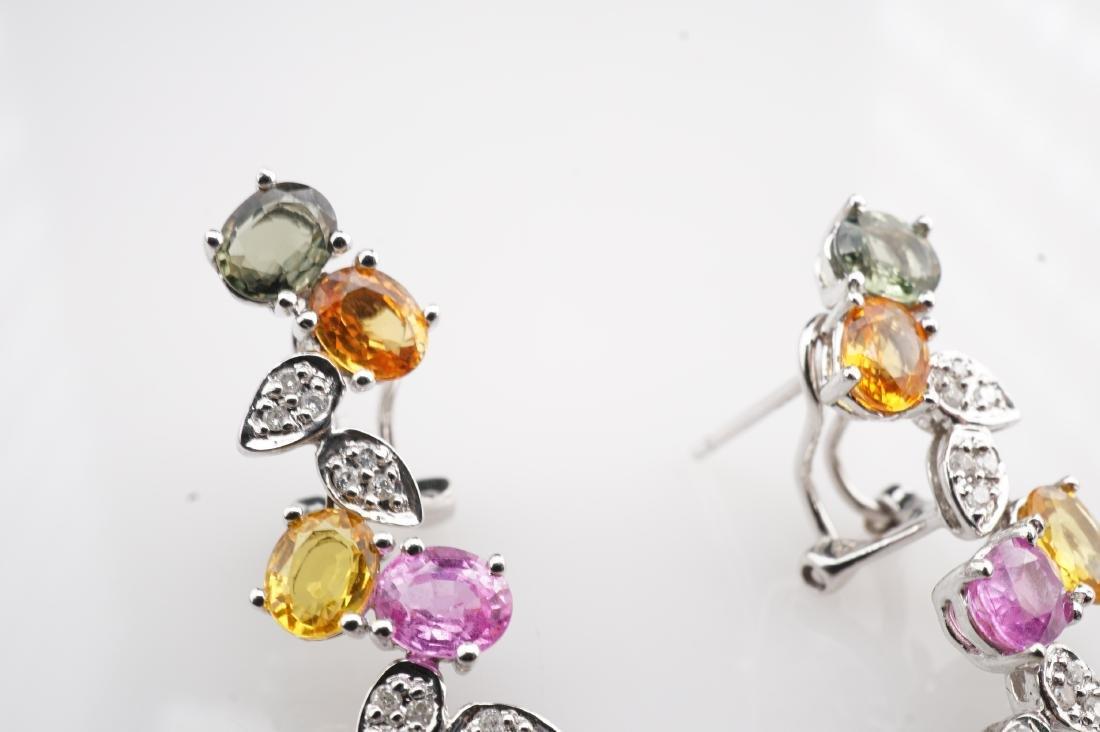 18K WG Le Vian Topaz & Diamond Drop Earrings - 2