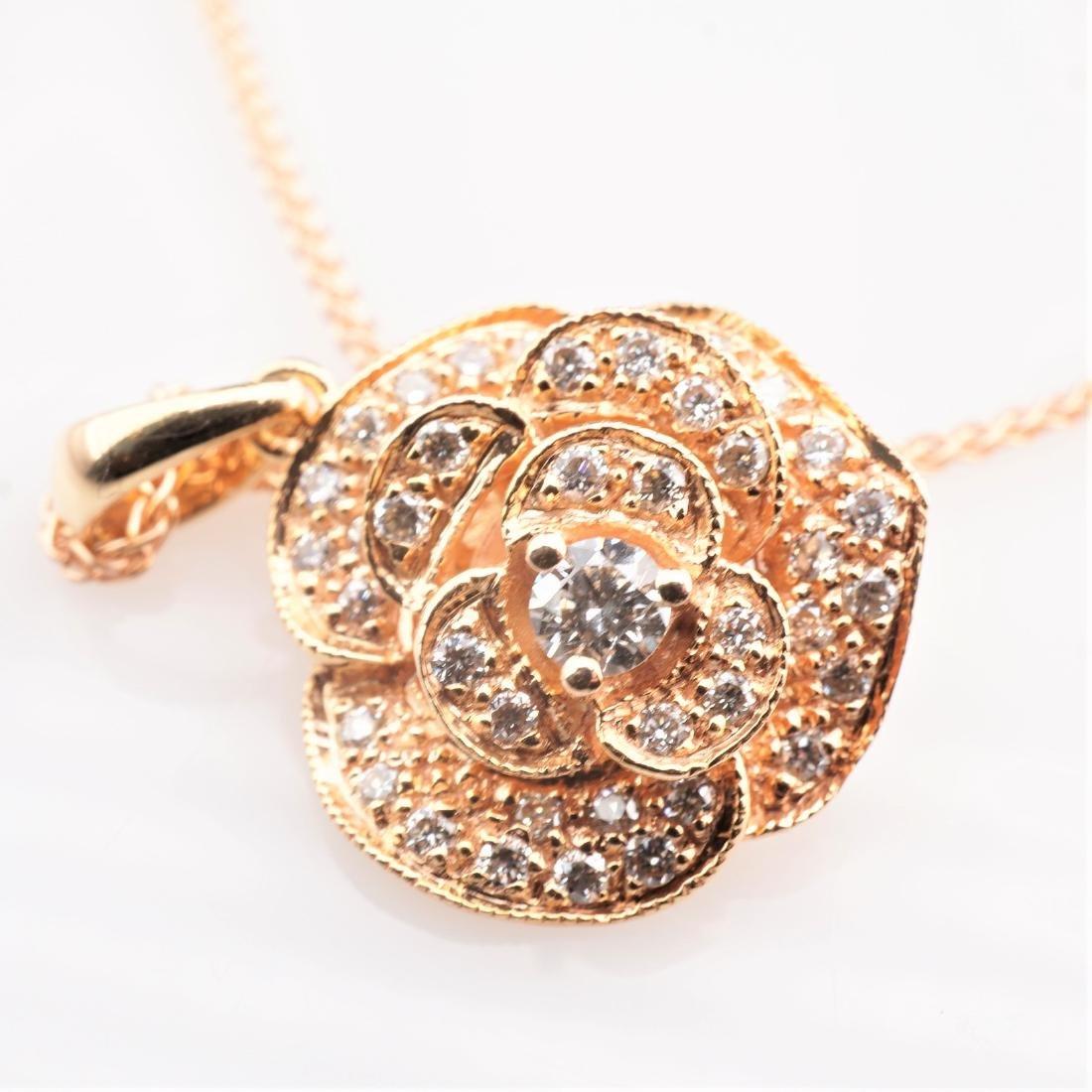 14K RG Le Vian Diamond Necklace