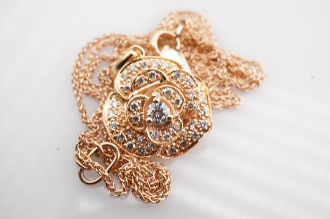 14K RG Le Vian Diamond Necklace - 2