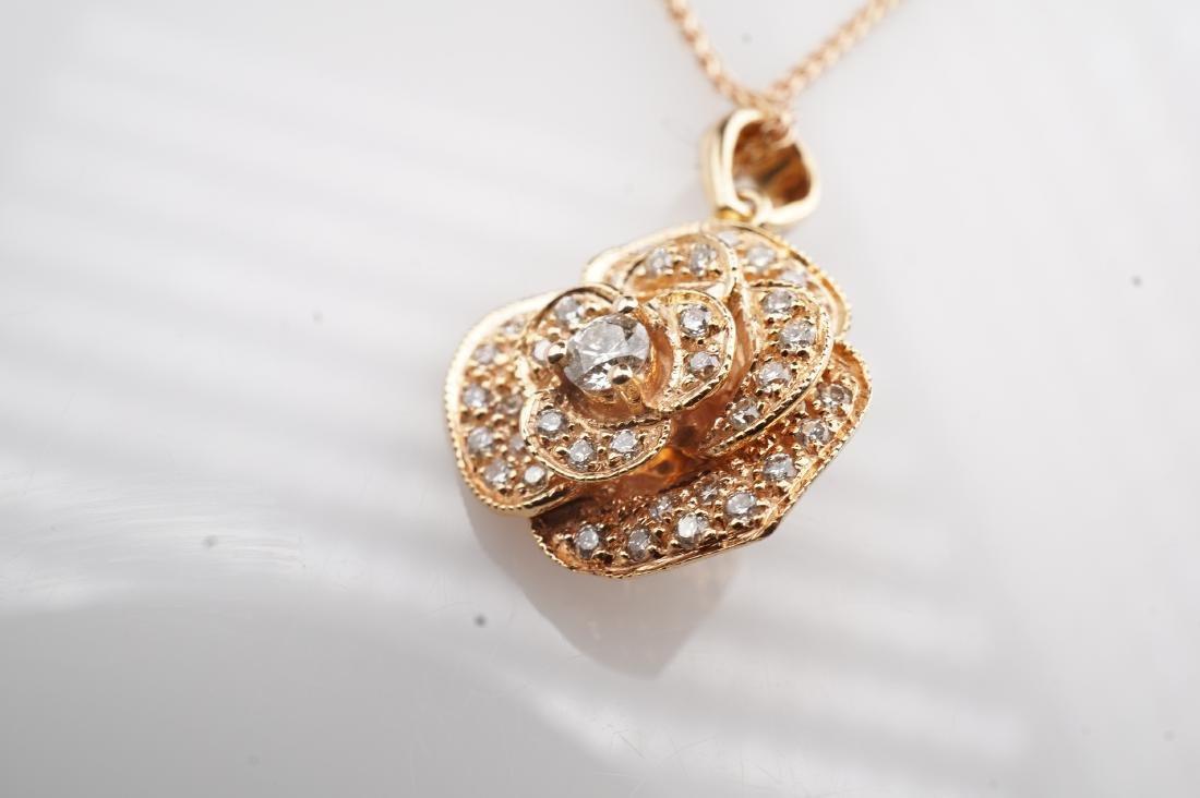 14K RG Le Vian Diamond Necklace - 3