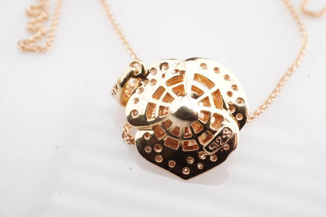 14K RG Le Vian Diamond Necklace - 4