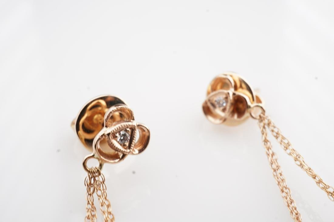 14K RG Le Vian Diamond Drop Earrings - 4