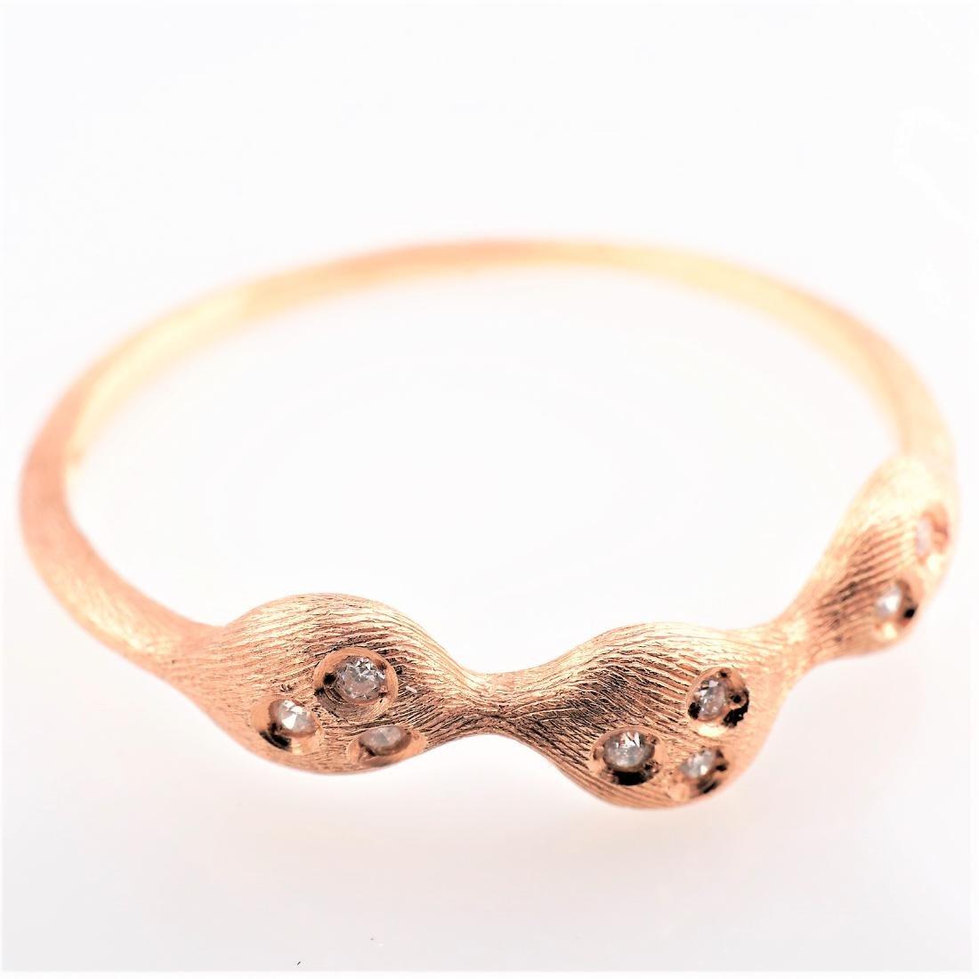 14K RG Nanis Diamond Ring sz 7.75