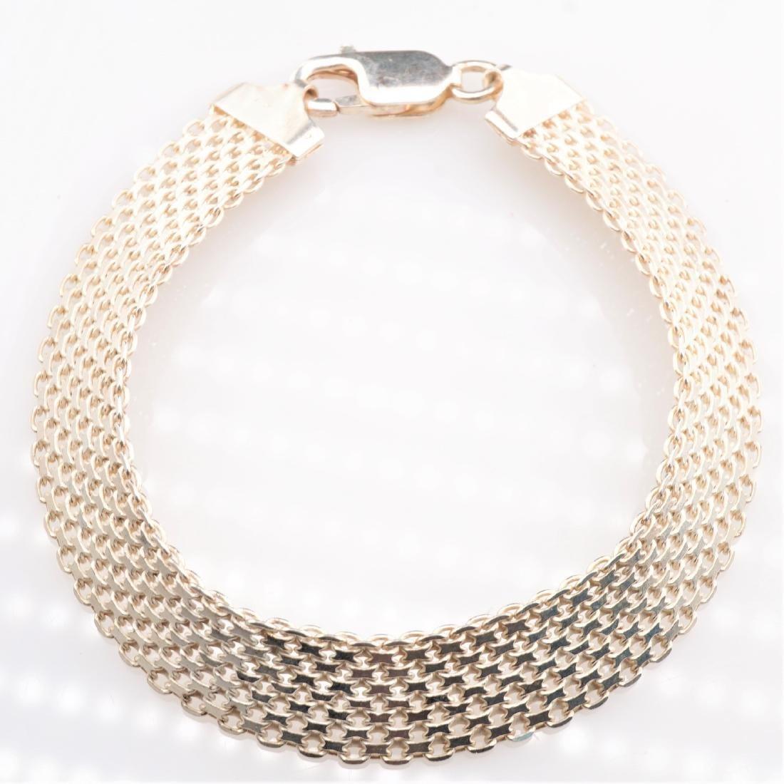 14k WG Mesh Bracelet