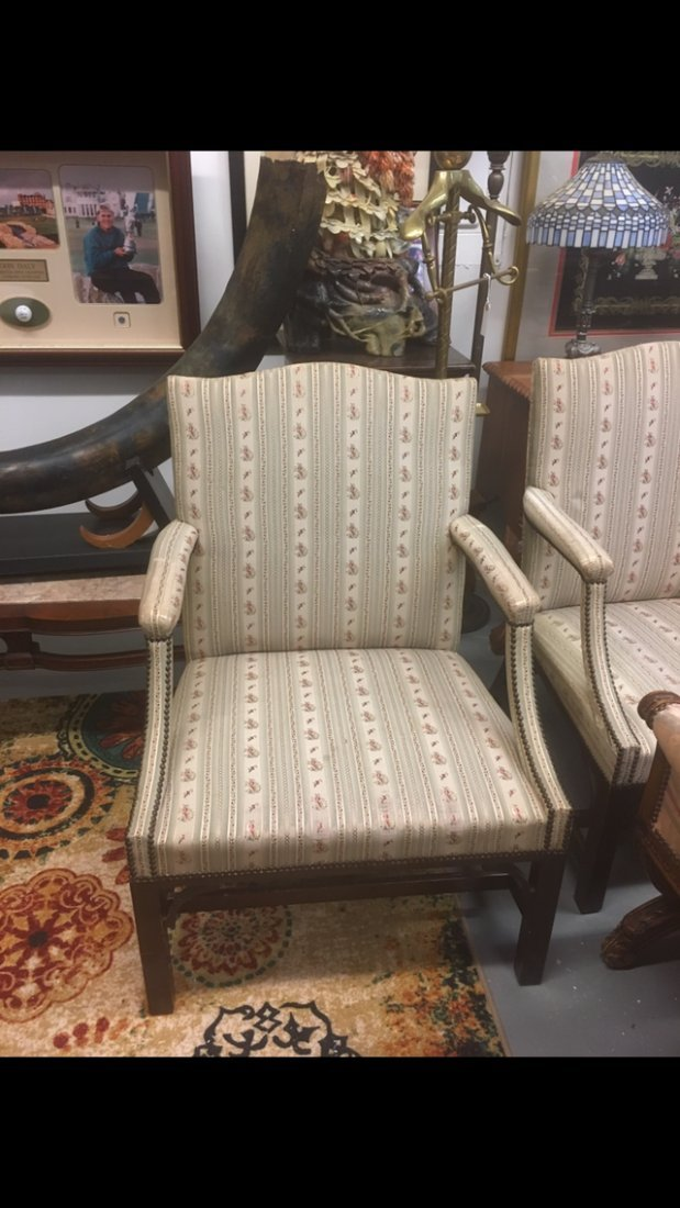 Pair of Floral Arm Chairs