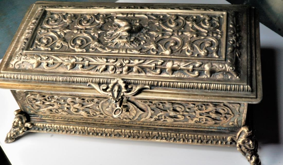 Renaissance Polished Bronze Jewelry Box