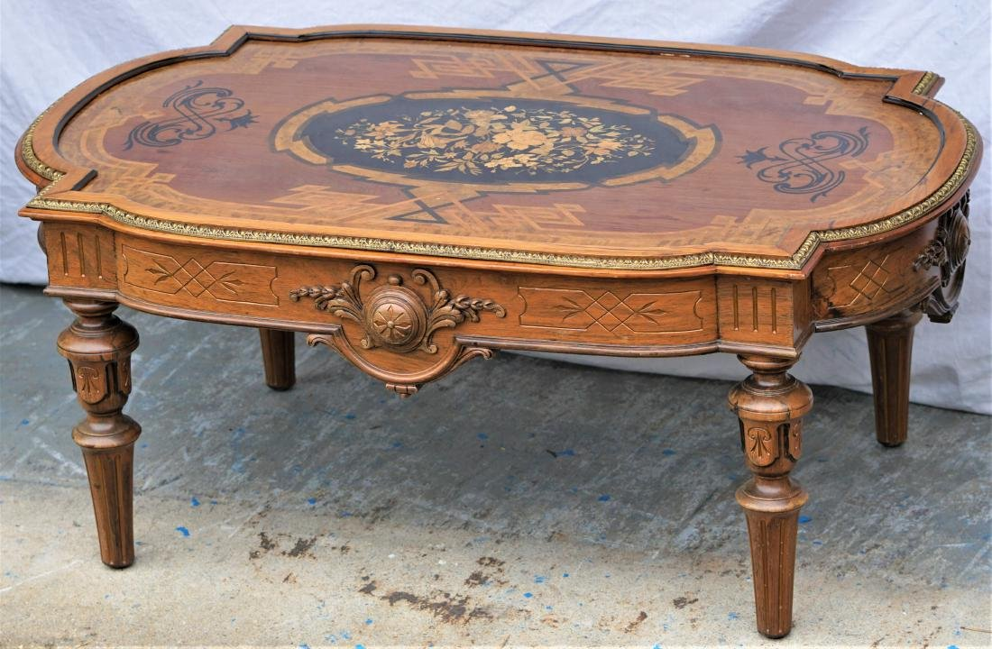 Herter Brothers Marquetry Coffee Table
