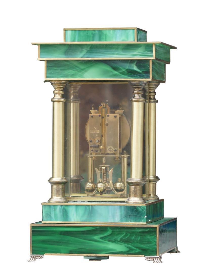 Neoclassical Art Glass Mantel Clock - 3