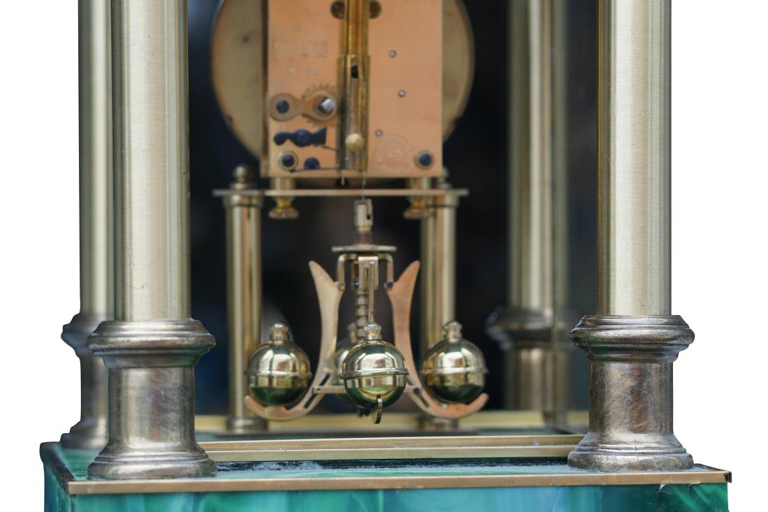 Neoclassical Art Glass Mantel Clock - 4