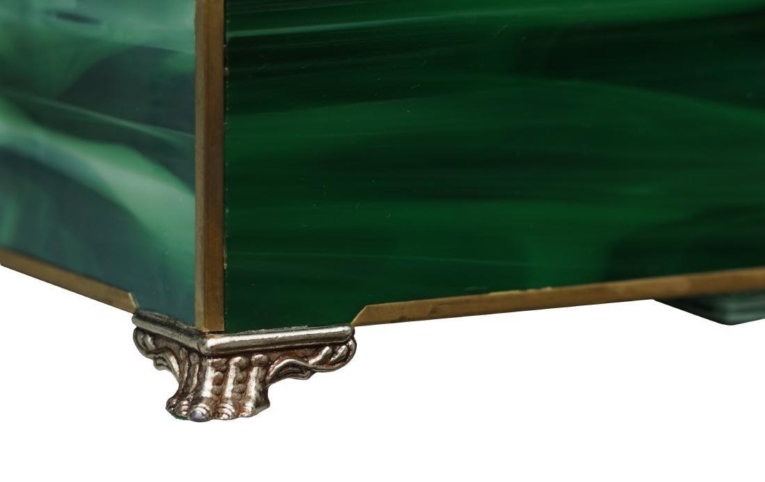 Neoclassical Art Glass Mantel Clock - 6