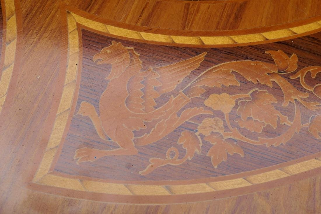 Italian Marquetry Inlaid Oval Musical Table - 5