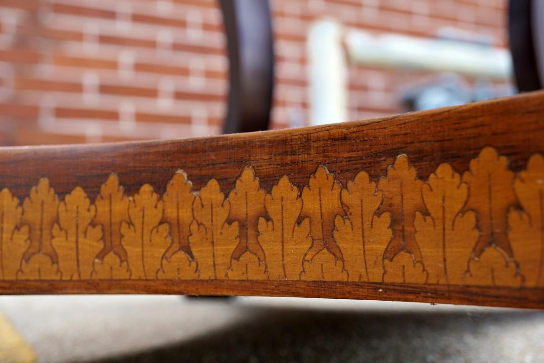 Italian Marquetry Inlaid Oval Musical Table - 6