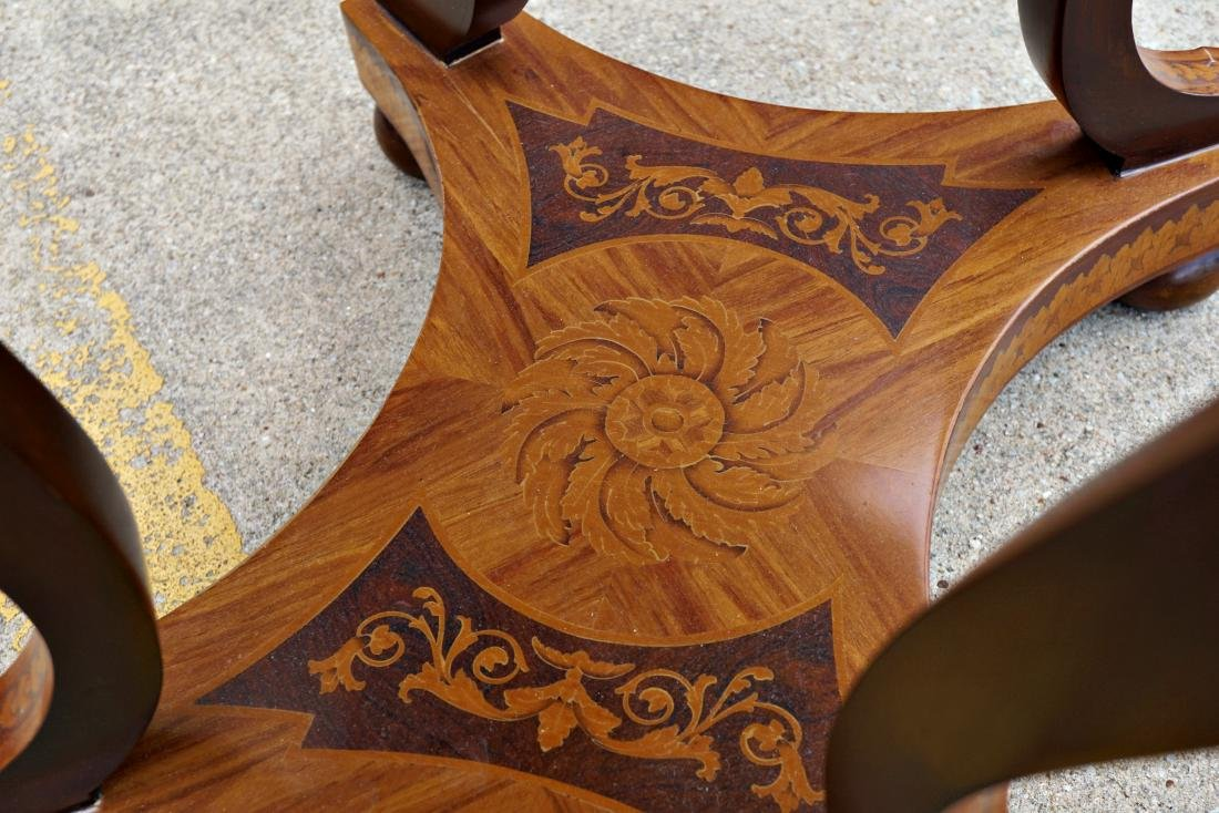 Italian Marquetry Inlaid Oval Musical Table - 7