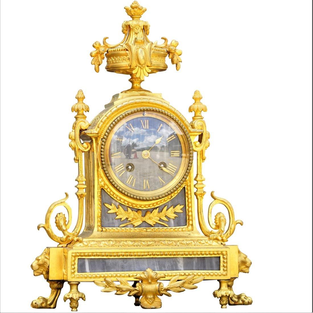 Antique French Mantel Bronze Clock