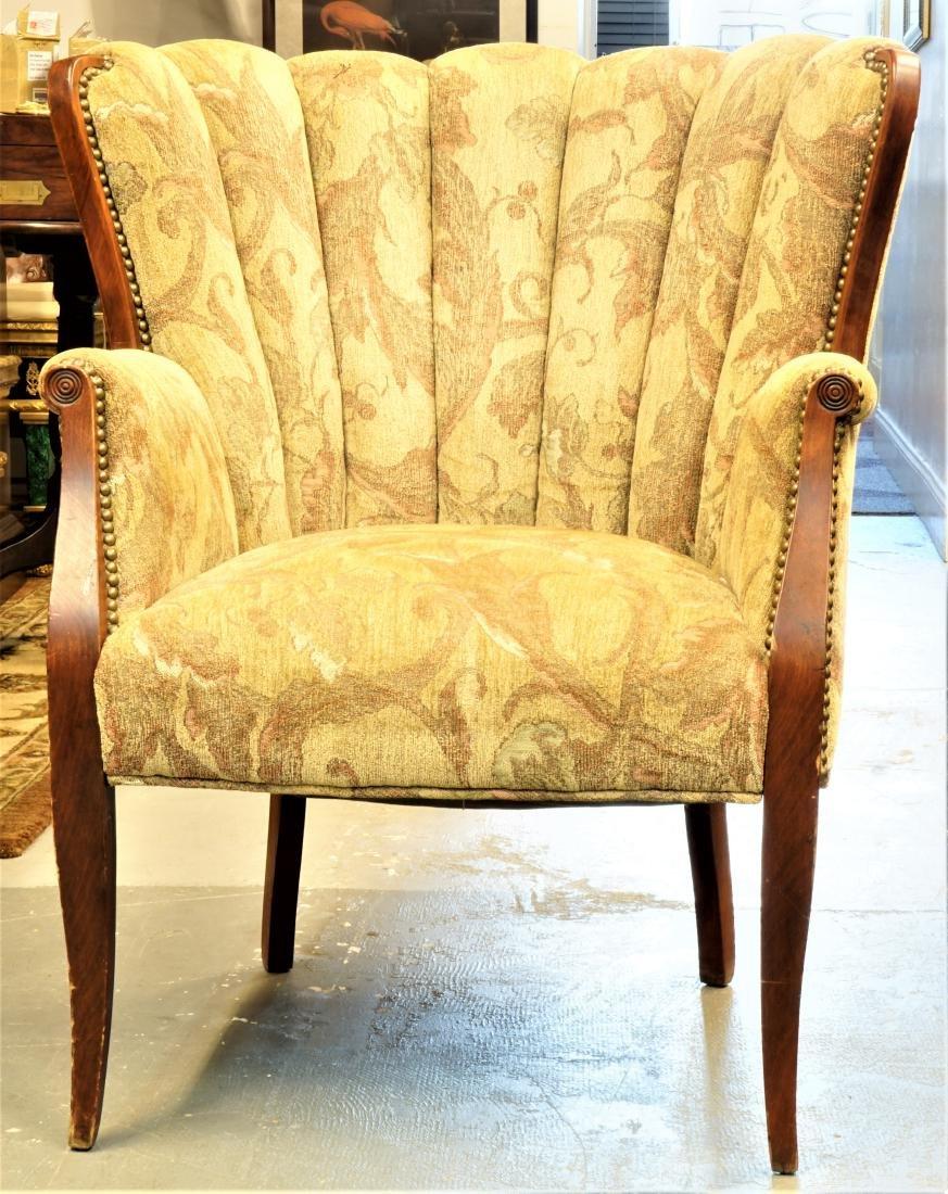 Art Deco Peacock Chair