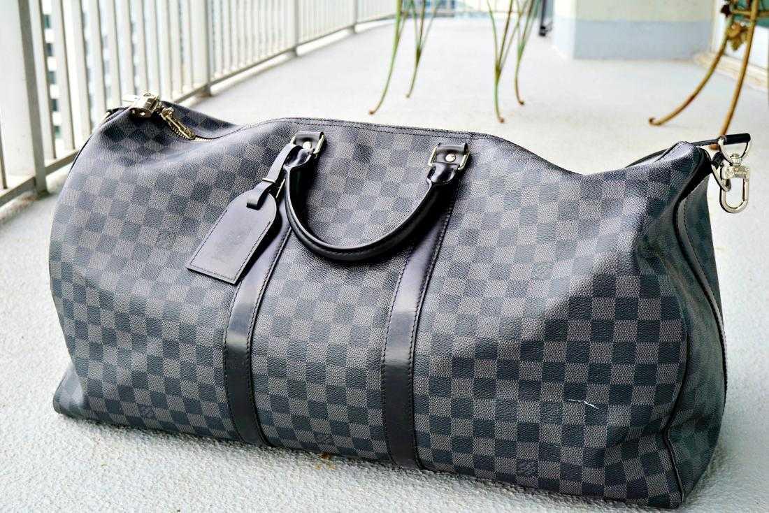 1b1ad11a98ed Louis Vuitton Keepall Bandouliere 55 Damier