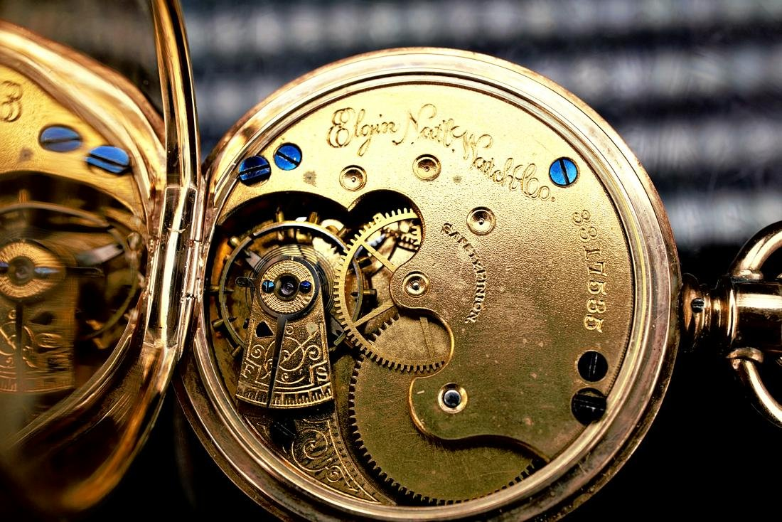 14k Yellow Gold Elgin Pocket Watch - 9