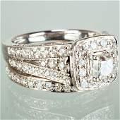 14k WG Diamond Wedding Ring Set