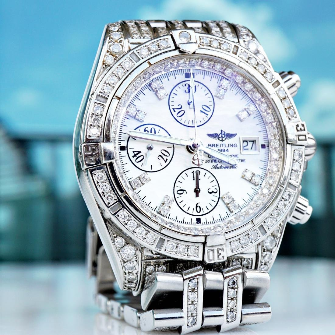 Breitling Chronomat Evolution With Diamonds - 5