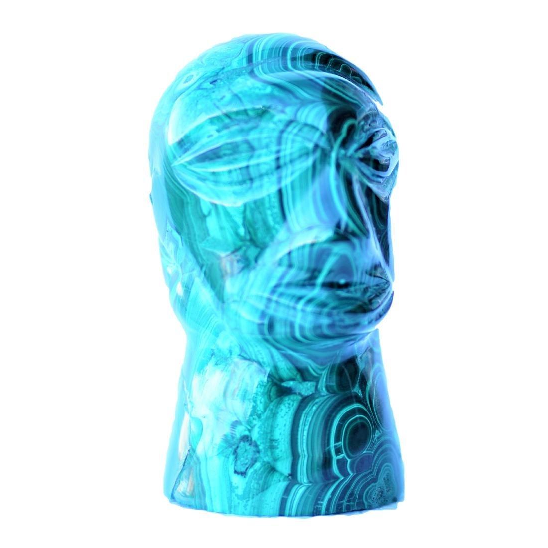 "Carved Malachite Figure 4.5"" Tall"