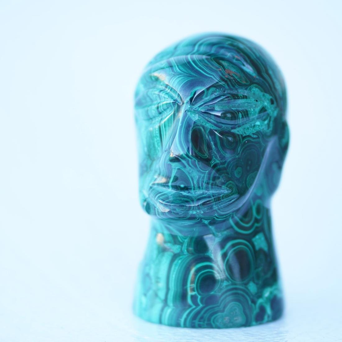 "Carved Malachite Figure 4.5"" Tall - 2"