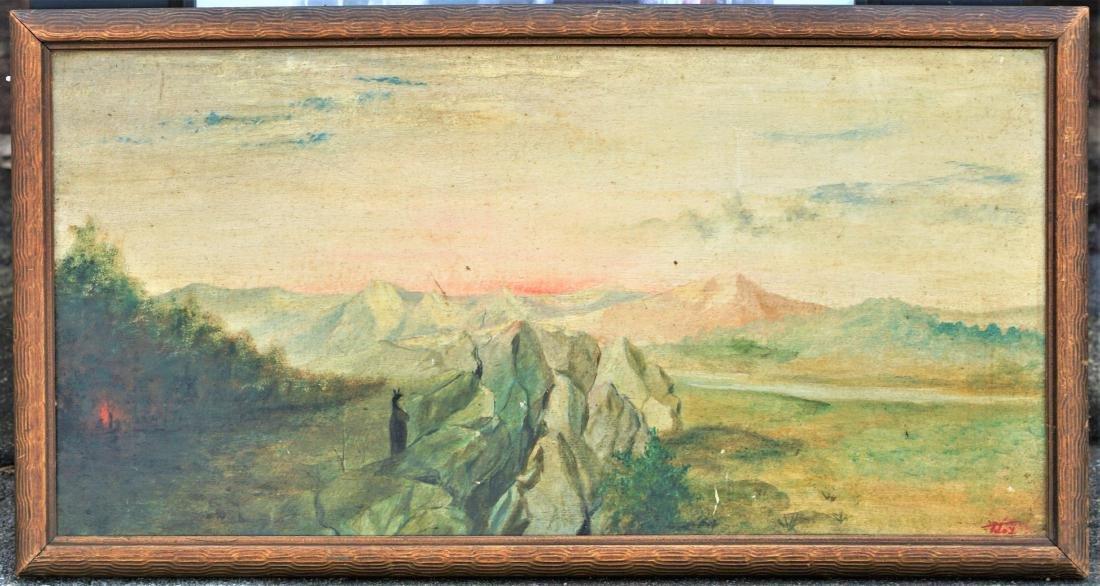 Oil on board landscape