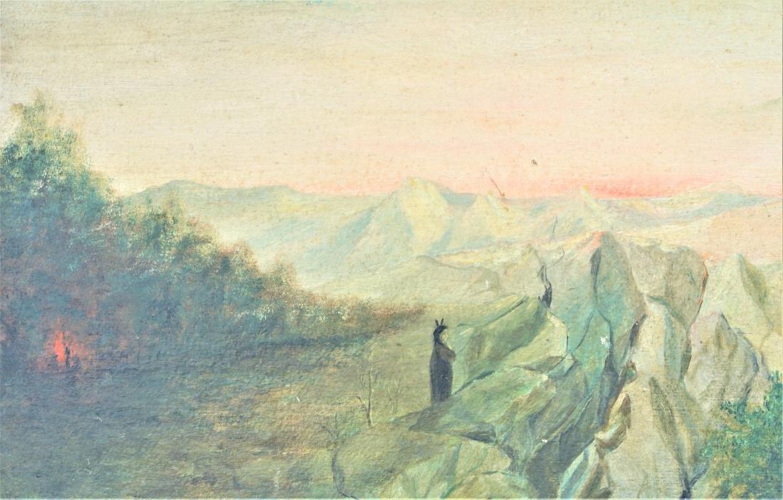 Oil on board landscape - 2