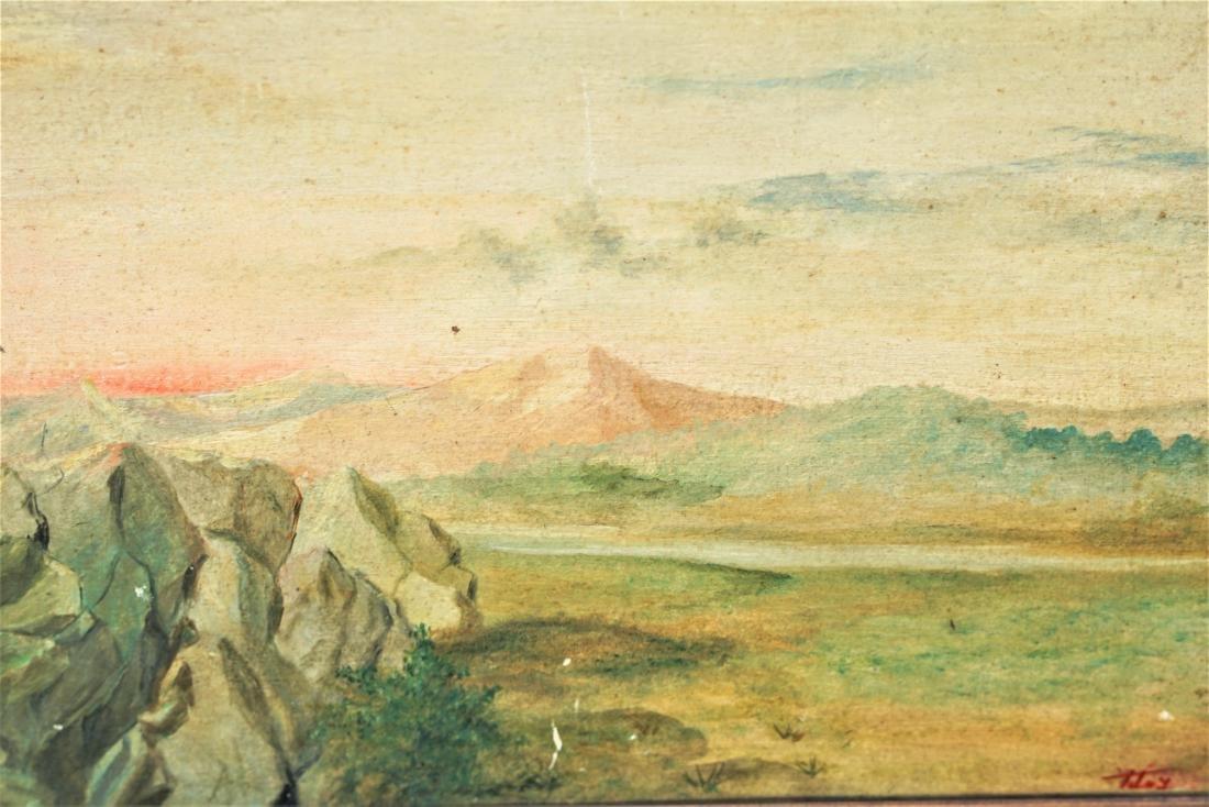Oil on board landscape - 3