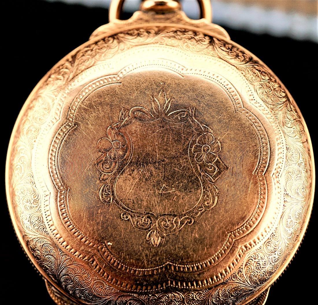 Aurora Illinois Gold Filled Pocket Watch 18s
