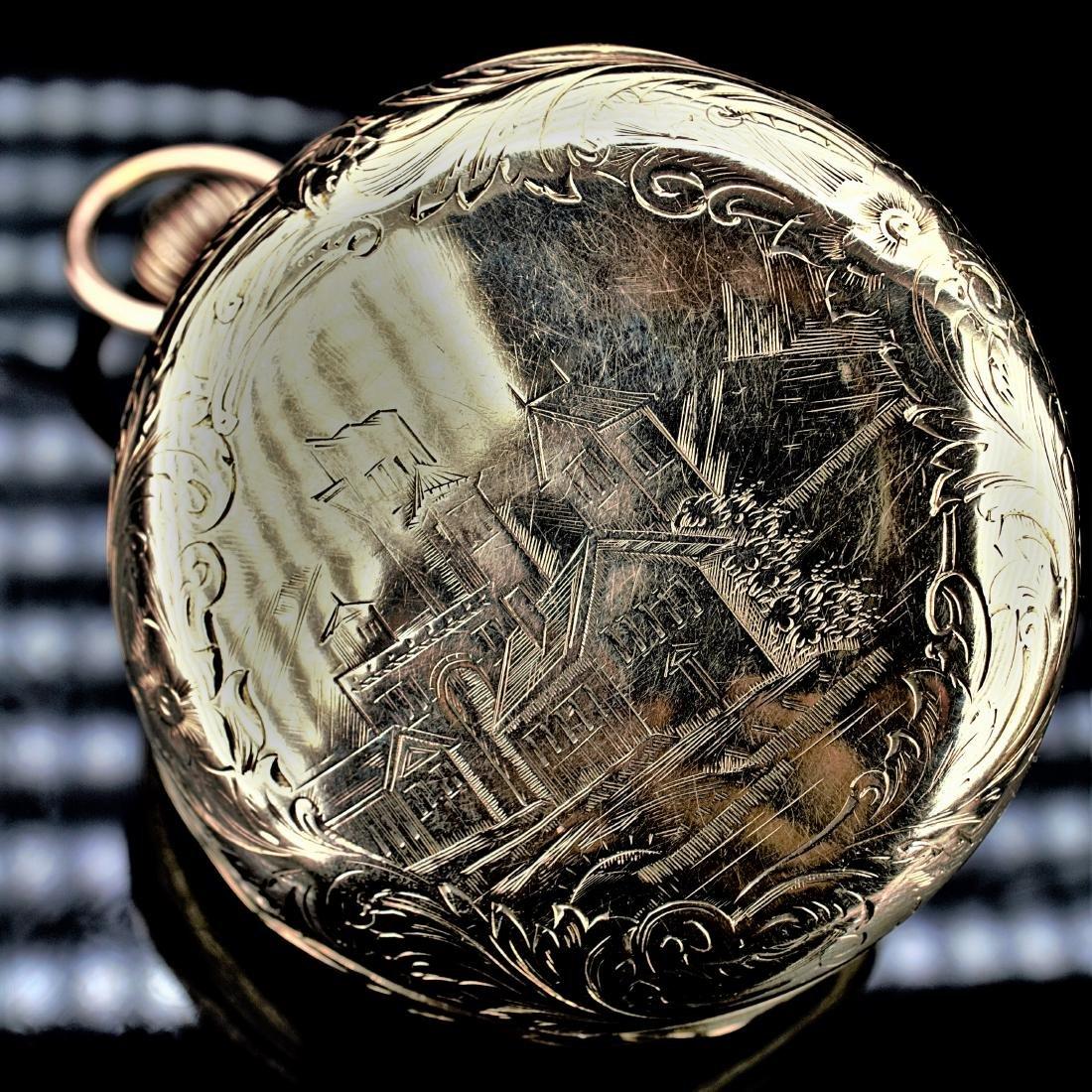 Waltham 14k YG Pocket Watch 6S