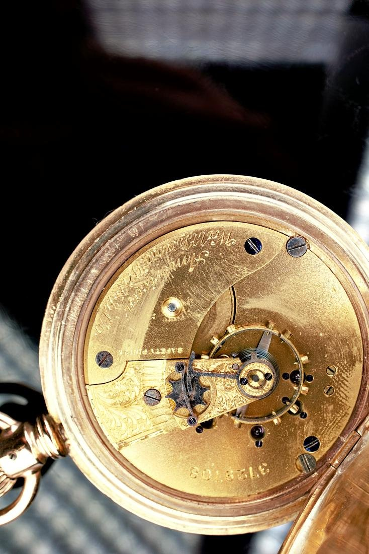 Waltham 14k YG Pocket Watch 6S - 8