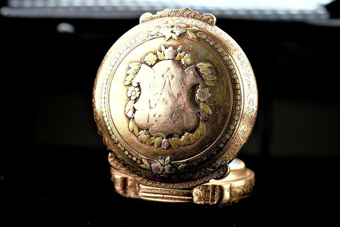 Hamilton 14k RG/YG Pocket Watch 16S - 2