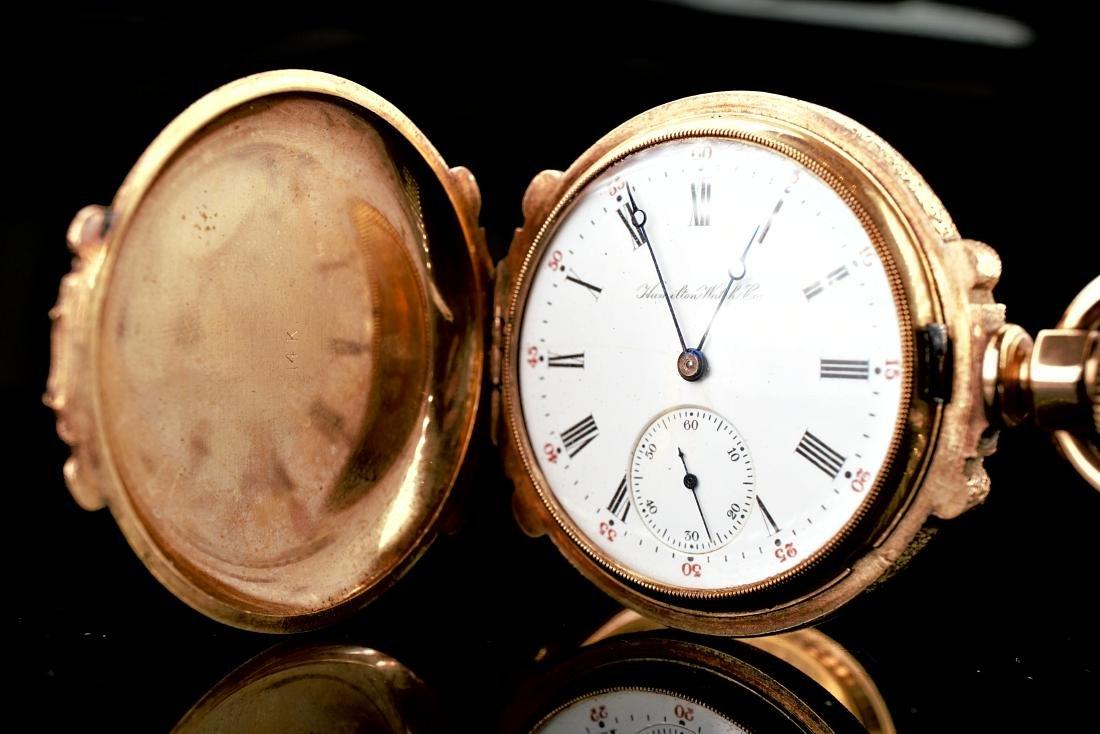 Hamilton 14k RG/YG Pocket Watch 16S - 4
