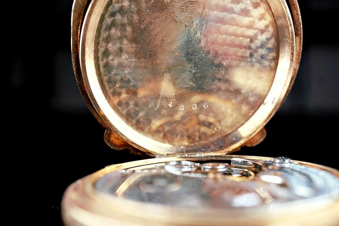 Hamilton 14k RG/YG Pocket Watch 16S - 7