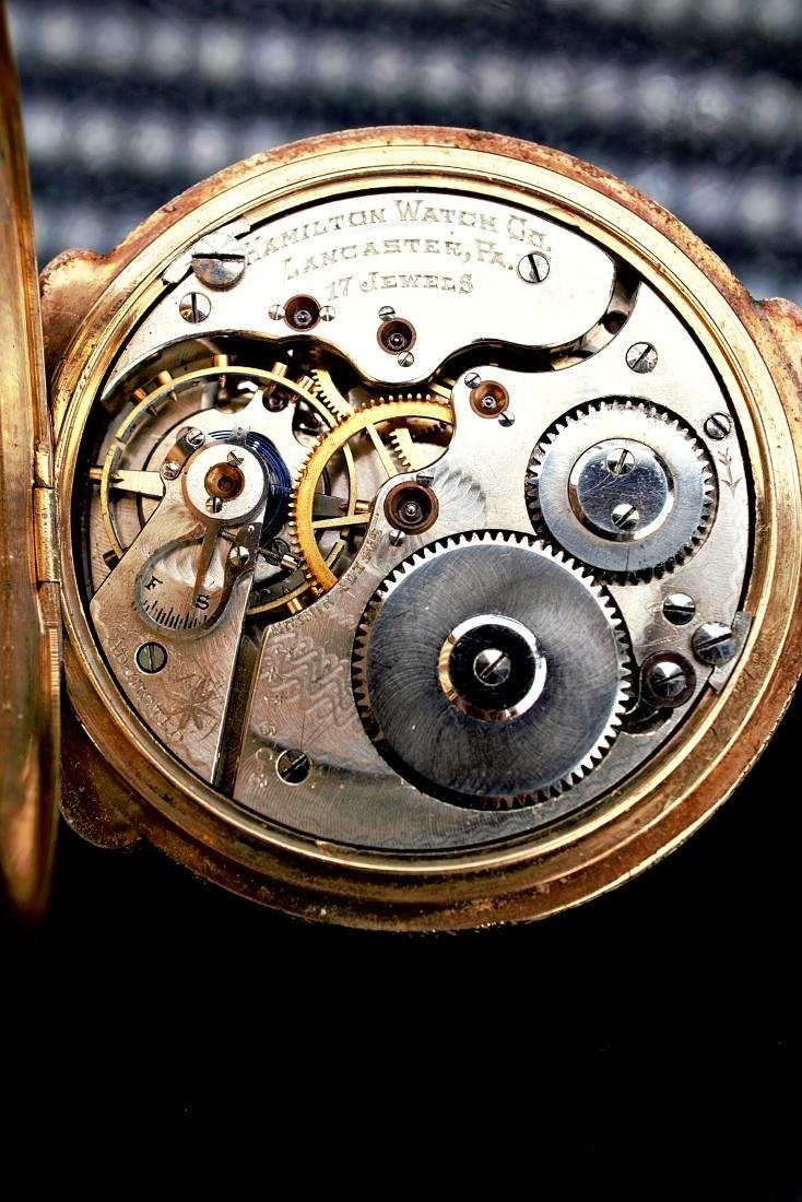 Hamilton 14k RG/YG Pocket Watch 16S - 8