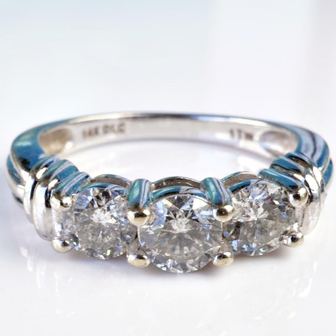 14k WG 1 CT Diamond Ring sz 6.75